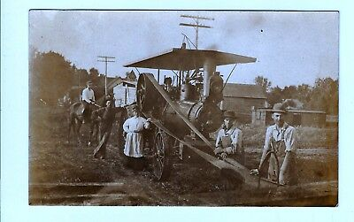 Real Photo Postcards Farmers With Their Antique Tractor