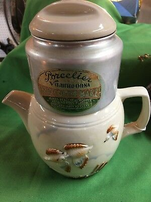 Vintage drip coffee maker's Porcelier