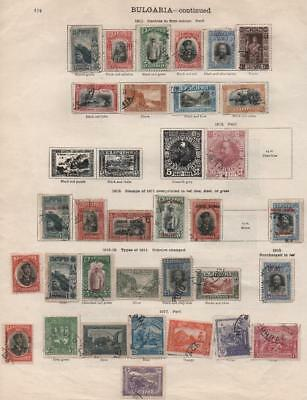 BULGARIA: 1902-1917 Examples - Ex-Old Time Collection - Album Page (13316)