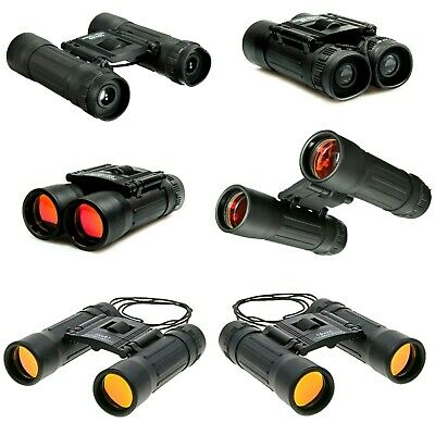 10x25 Binoculars Compact with Zoom Case & Strap | Day Folding Waterproof Roof
