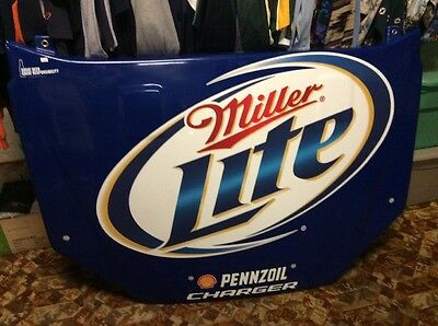 Miller Lite Plastic Racing Hood Beer Sign, Large!