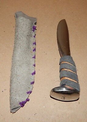 1890's Railroad Spike Miners Knife Hand Forged Hand Ground Sanded Polished 147T