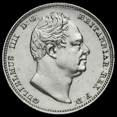 1831 William IV Milled Silver Sixpence, A/UNC #2