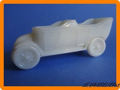 Antique Salt White Portieux France Opaline Milk Glass Old Car