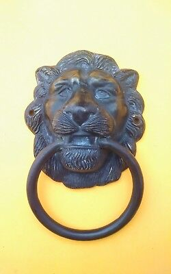 Vintage Lion Head Victorian Door Knocker Large and Heavy Bronze Copper or Brass?