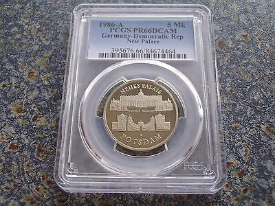 Germany GDR proof 5 Mark 1986 New Palace Potsdam PCGS PR 66 DCAM german coin PP