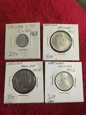 Vintage Vatican City  Coin Lot -- 4 Coins!