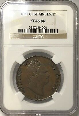 1831 Great Britain Copper Penny Ngc Xf45 Bn #3347639-004