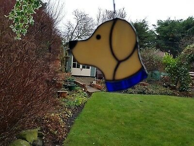 Stained Glass Labrador Dog Suncatcher or Wall Mount.