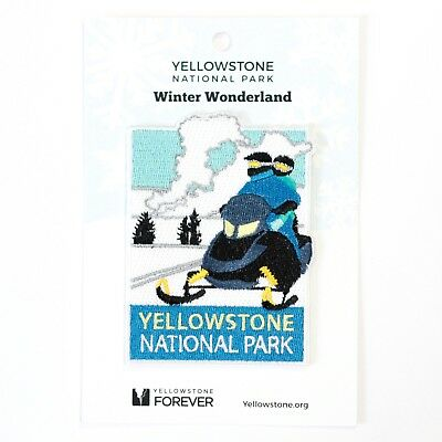 Official Yellowstone National Park Souvenir Patch Winter Wonderland Wyoming