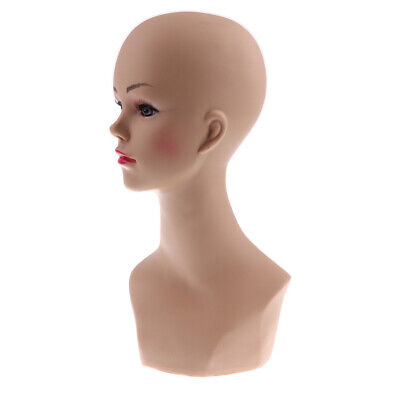 Female Mannequin Head Manikin Model for Wigs Hat Jewelry Scarf Display Stand
