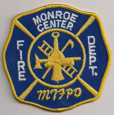 Patch Abzeichen Monroe Center Fire Department Illinois IL USA Feuerwehr