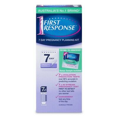 First Response 7 Day Pregnancy Planning Kit (7 Ovulation Tests + 1 In-Stream ...