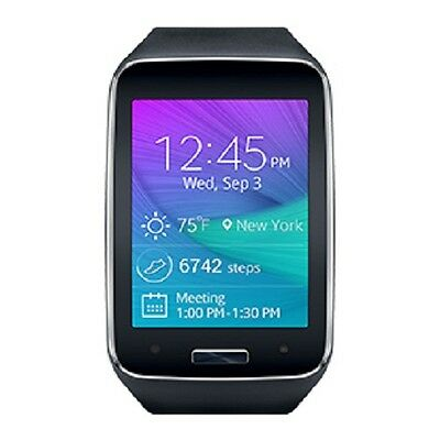 Samsung Galaxy Gear S R750T T-Mobile Black Excellent Condition Smart Watch