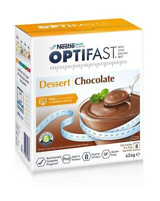 New 53g X 8pc Optifast Dessert Diet Chocolate Mousse Low Calorie Snack Sweets