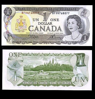 Canada 1973 $1.00 note BC-46a-i  Crow Bouey BFH4768077