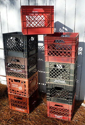 """9 Commercial Milk Crates for reUse &  storage """"Very Handy"""" (no free delivery !)"""