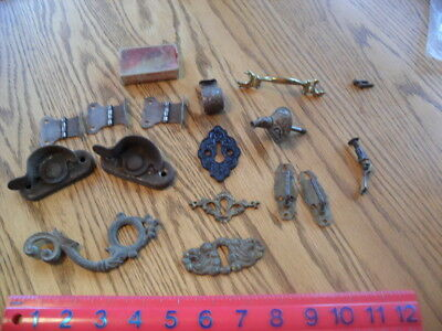 Vintage Hardware -Latches, Decorative Handles & Key Hole Covers, Hinges, More !