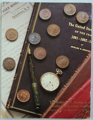 Superior Galleries 9/1986 auction catalog, Robinson S. Brown, Jr. Large Cents