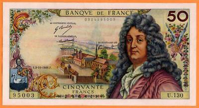 FRANCE  50 FRANCS RACINE 3-10-1968 aXF WONDERFUL BANKNOTE