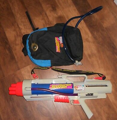 Super Soaker Cps 3000 Backpack Water Blaster Gun 1997 Larami Tested