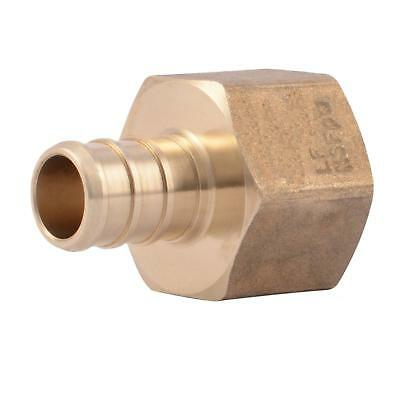 "PEX 1/2"" x 1/2"" Inch Female NPT Thread Adapter - Crimp Fitting 25 pcs / Brass /"
