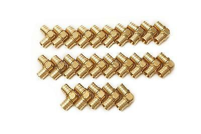 PEX 1/2 Inch Barbed 90 Elbows - Crimp Fittings - Bag of 25 pcs / Brass / 1/2""