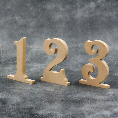 Table Numbers Wooden MDF Wedding Table Decorate Yourself Unpainted MDF 15cm Tall