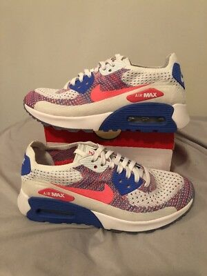 8712dbd4aa9b NEW Nike Air Max 90 ULTRA 2.0 FLYKNIT SIZE WMNS 5.5 Pink Blue White (881109
