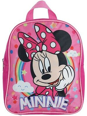Disney Minnie Mouse Girls Toddler Mini Bows Backpack Bookbag Kids Children 10""