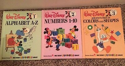 LOT OF 16 WALT DISNEY FUN-TO-LEARN LIBRARY BOOKS/1980's vintage books