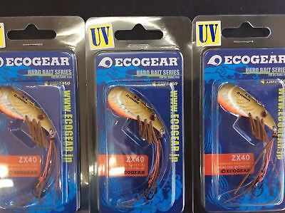 Ecogear ZX40 UV Blade Fishing Lure 3 Pack Free Postage within Australia