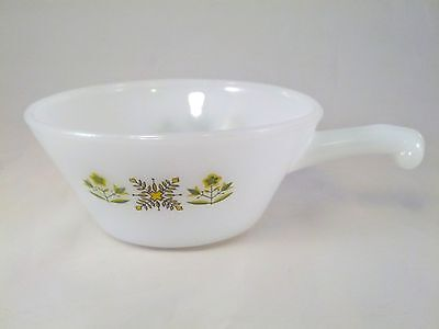 Vintage A.H. Fire King Meadow Green Tab Handle Bowl - Made in USA - Very Nice!