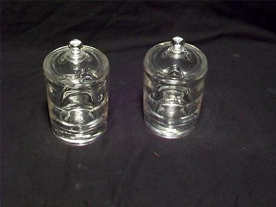 Two Heisey Condiment Jars