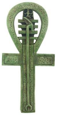 Ankh Symbol of Life Egyptian Symbol Small Wall Relief Green Finish 9L