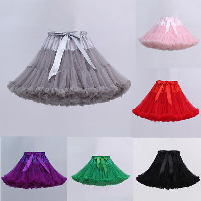 Ladies Girl Petticoat Crinoline Underskirt Swing Ballet Tutu Skirt Lolita Dress