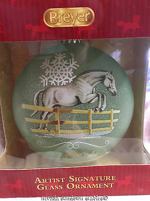 Breyer Holiday Ornaments 2016 Artist Sign Blown Glass Dressage Horses