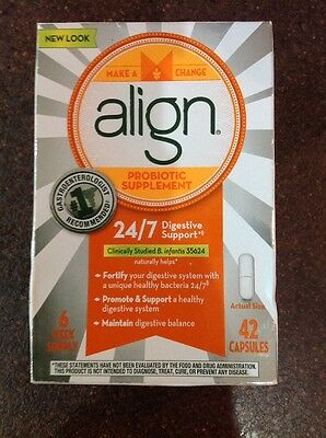 Align Digestive Care Probiotic Supplement 42 Capsules Exp 8/2018 Free Shipping