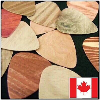 Wood Design Guitar Pick Lot (10) Cool Smooth Thin Wood Design Celluloid Picks