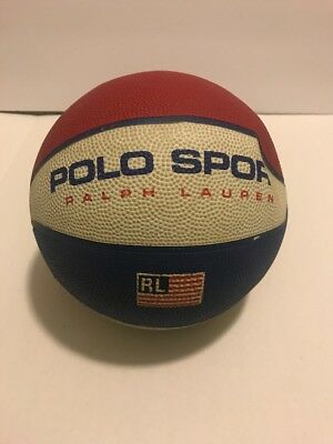 Vintage Polo Sport Ralph Lauren Rawlings Multi Colored Basketball 90s