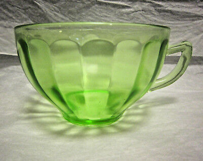 Green Depression Glass Tea Cup by Federal Glass Co. Unknown Design