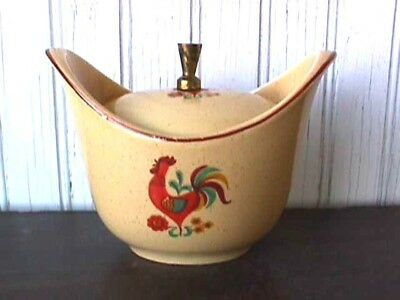 **reveille Rooster (1) Sugar Bowl & Lid Taylor, Smith & Taylor Uw28-G