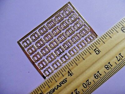 Micro Miniature Buckles~Gold~Dollhouse Scale~Set Of 5~Tiny Doll Buckles~B61