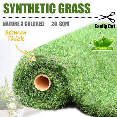 New 20SQM 30mm Synthetic Turf Artificial Grass Plastic Plant Fake Lawn Lead Free