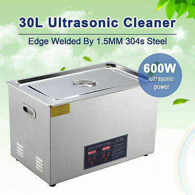 Digital 30L Ultrasonic Jewelry Cleaning Cleaner Machine with Heater, Timer !