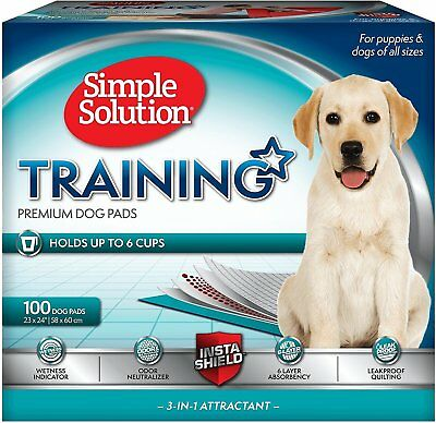 Puppy Training Pads, 100 Pack Simple Solution Cage Liners 6 Layers