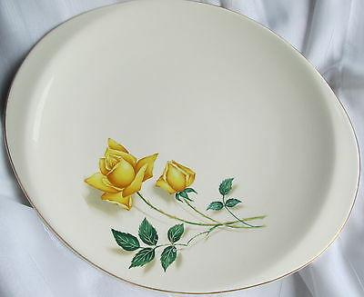 Canonsburg Pottery Sky Line Temptation/simplicity Yellow Rose Large Oval Serving