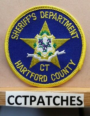 Hartford County, Connecticut Sheriff (Police) Shoulder Patch Ct