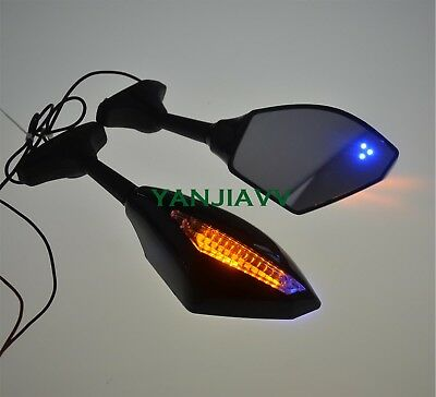 For Honda CBR900RR CBR929RR CBR954RR CBR600F F4i LED Turn Rear View Mirrors