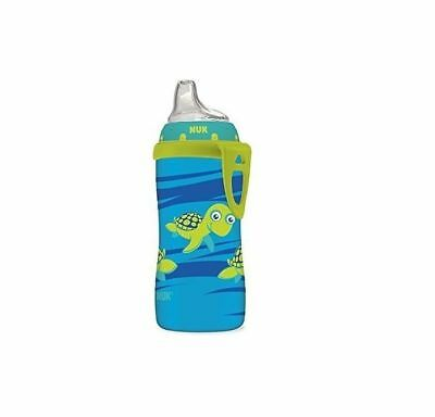 NUK Blue Turtle Silicone Spout Active Cup 10 Ounce Easy Bottle to Cup Transition